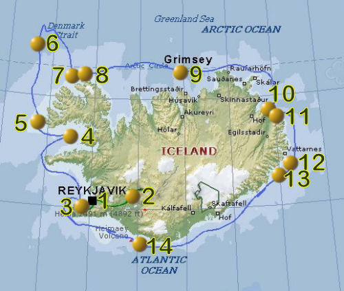 LIVING TRAVEL Travel Photos of Iceland and Polar Bears in – Iceland Travel Map
