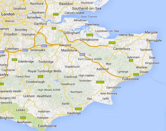 Map Of England Kent.Living Travel England 17 South East England East Sussex And Kent